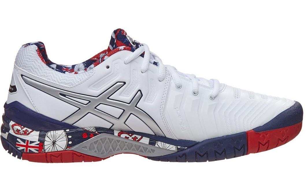 Asics Gel Resolution 7 LE London - Sepatu Tenis Adidas Nike Original    Perlengkapan Tas Tenis Murah c4045a45ca