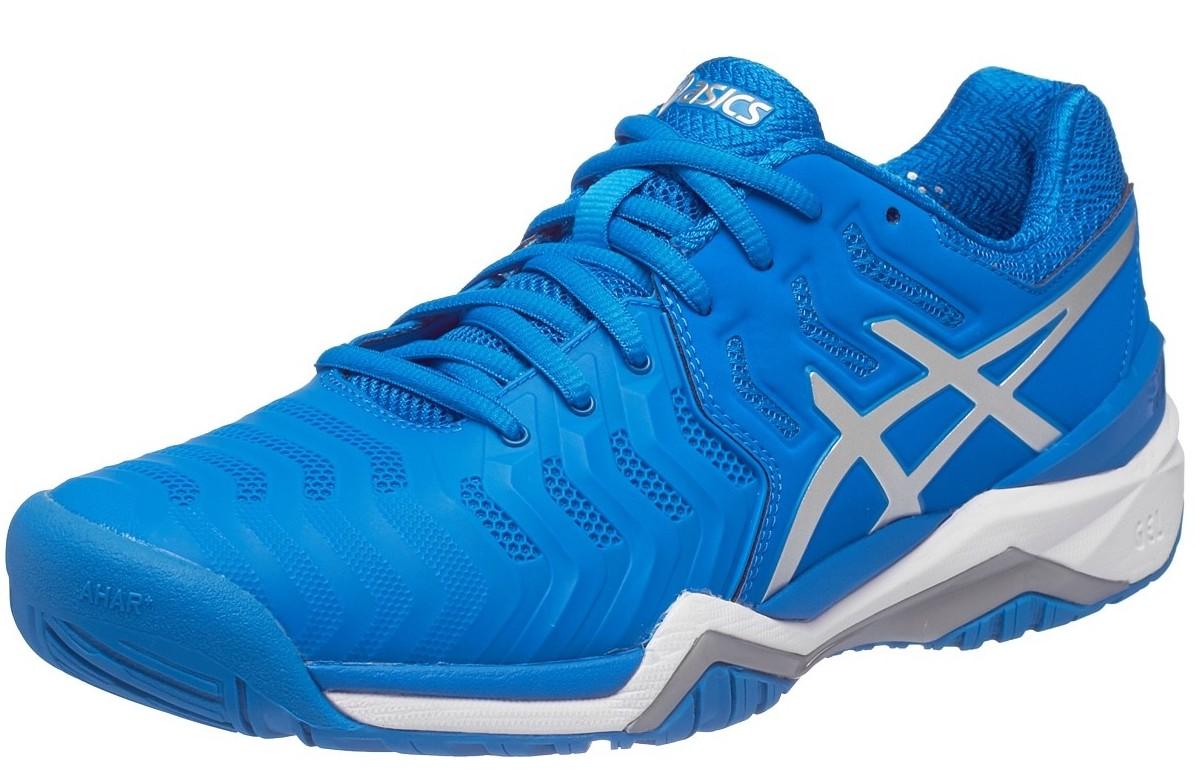 Asics Gel Resolution 7 Blue Silver White - Sepatu Tenis Adidas Nike  Original   Perlengkapan Tas Tenis Murah 090422a0c2